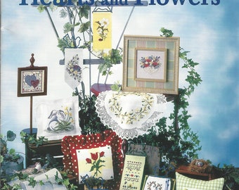 "Clearance-""Hearts and Flowers"" Counted Cross Stitch Booklet by Mill Hill"
