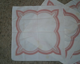 Vintage Pink and White Napkins