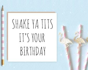 Shake ya tits card - FREE DELIVERY