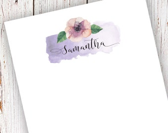Personalized Notepad -Teacher Gift - Bridsemaids Gift - Christmas Gift - Watercolor Floral Notepad