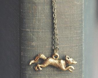 fantastic fox necklace