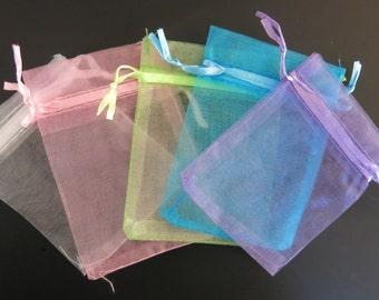 BULK! 100pc organza jewelry/wedding bags mixed colors (JC8)