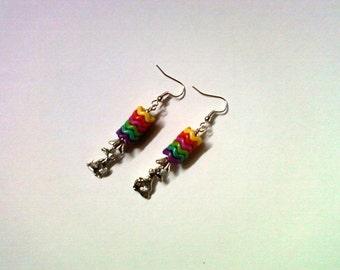 Rainbow Easter Bunny Earrings (1950)