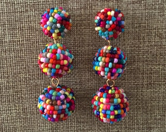 Beaded Earring - Statement Earrings Boho Earrings Beaded Earring