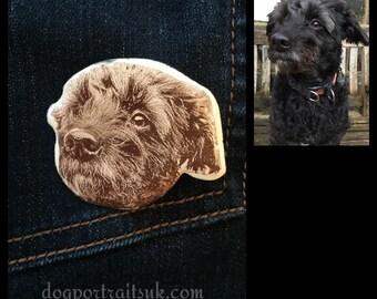 Custom Dog Face Pin Brooch Badge