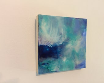 Original Encaustic Painting - Abstract Landscape