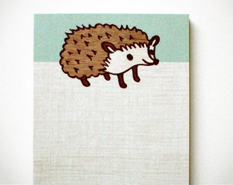 HEDGEHOG NOTEPAD kawaii memo pad boygirlparty hedgehogs stationery, kawaii stationery, hedgehog stationary, hedgehog decor kawaii gift ideas
