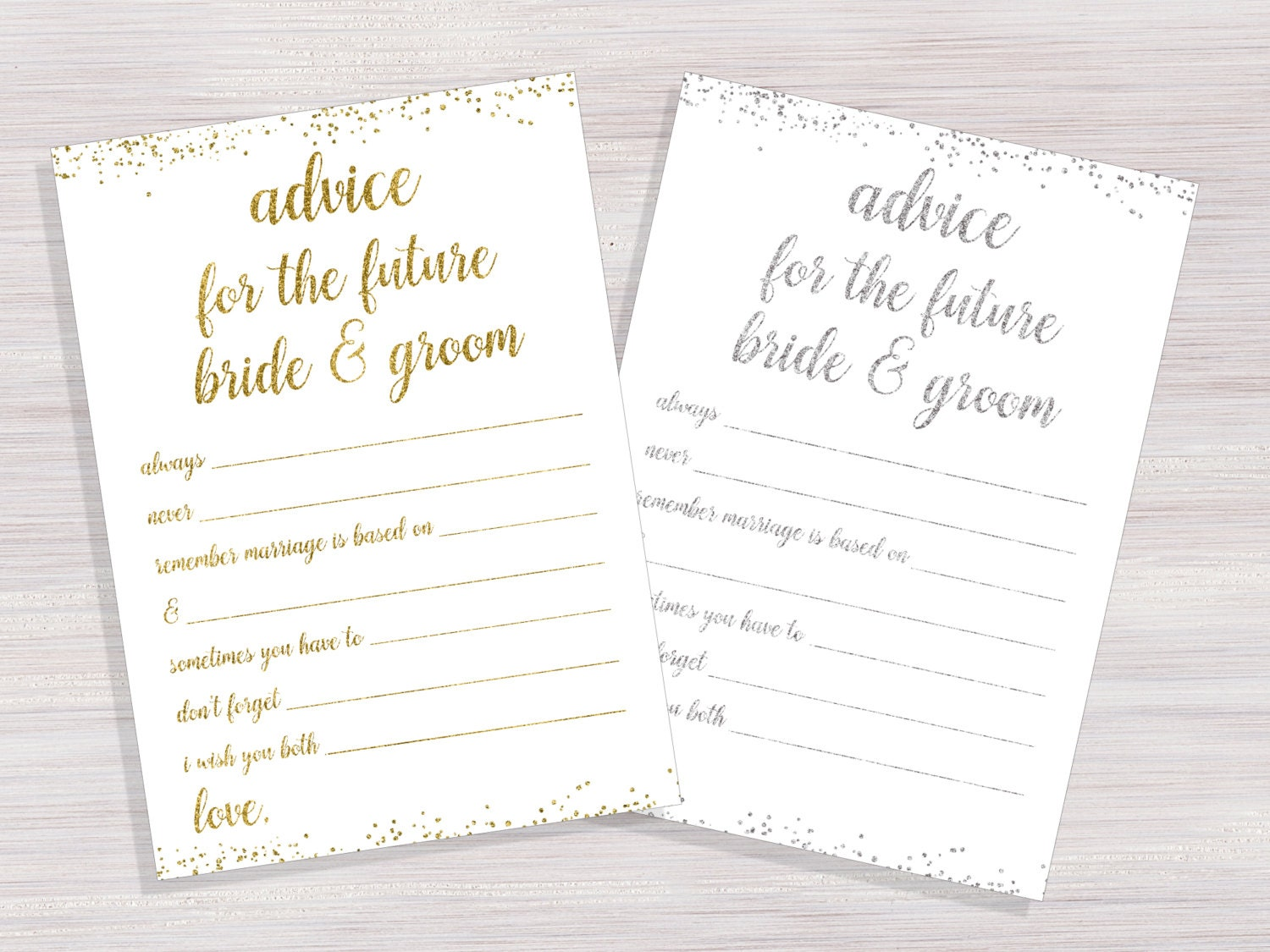 photo about Free Printable Bridal Shower Advice Cards named absolutely free wedding ceremony assistance playing cards printable - Think about Plans References