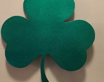 "Large St. Patrick's Day Clover/Shamrock Tree Topper 10""x8 3/4"""