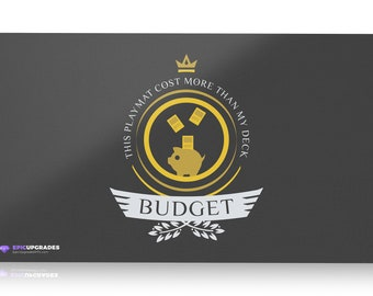 "Budget Life Playmat - Magic the Gathering 24""x14"" Custom MTG *Free US Shipping!"