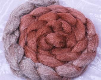 Ombre Haunui/Tussah Silk Beech - Natural Moorit base 100gr