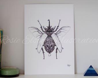 Clockwork Beetle Print
