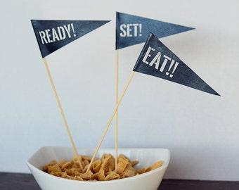 Ready, Set, EAT!! Skewer Flags