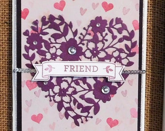 Thinking Of you, Homemade, Greeting Card, Friends, hearts