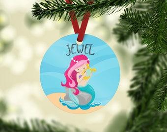 Custom Mermaid Ornaments - Custom Unicorn Ornament - Magical Ornaments