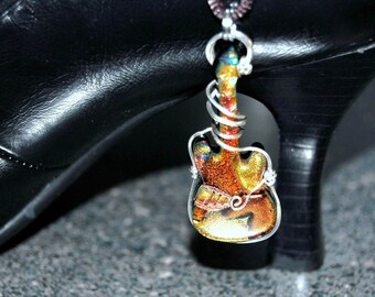 Roxanne Wire Wrapped Glass Guitar