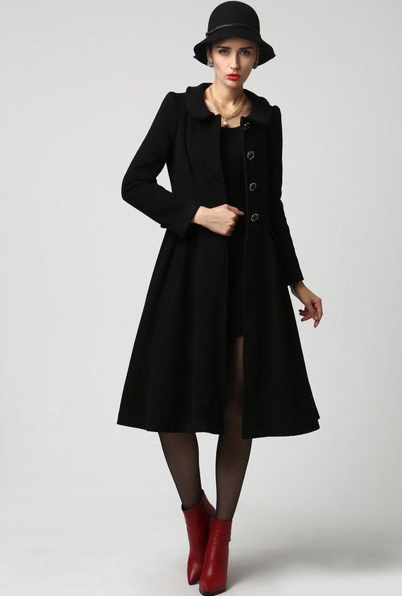 wool jacket black wool jacket dress coat womens jackets