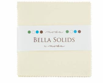 Charm Pack-5 inch squares-Moda-Snow-White Solid