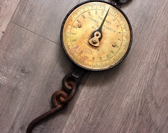 Vintage Salter's Spring Balance Cast Iron Scale. Made in England