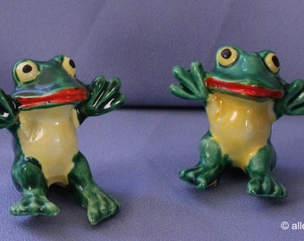 Vintage Salt & Pepper Shakers, Frogs