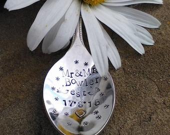 Celebration Spoon - Hand Stamped Spoon -Engagement - Birth - Marriage - Adoption - Confirmation - Personalise - Personalise - Cutlery