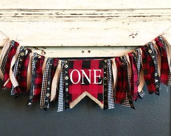 Lumberjack Highchair Banner- Custom Made to Order