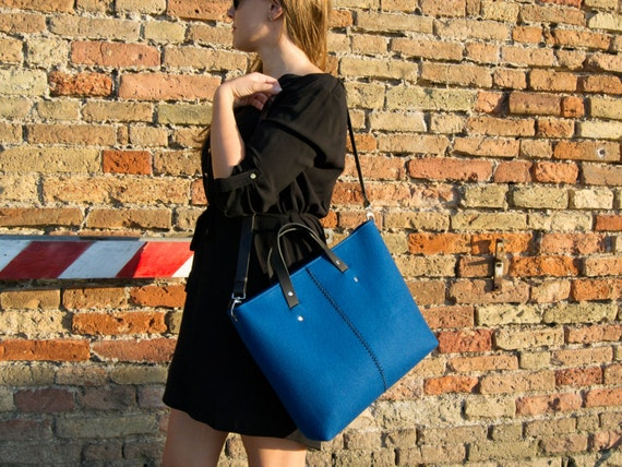 Wool felt HANDBAG / felt bag / felt women's bag / blue bag / blue handbag / made in Italy