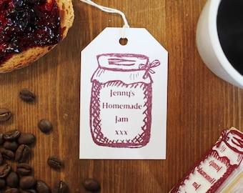 Jar Label Stamp, jam label stamp, Chutney label, preserve label, conserve label, custom jam label, personalised jam label, custom jar label