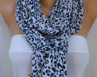30% OFF - Leopard Print Scarf, Shawl,Birthday Gift,Gift Ideas For Her, Women's Fashion Accessories
