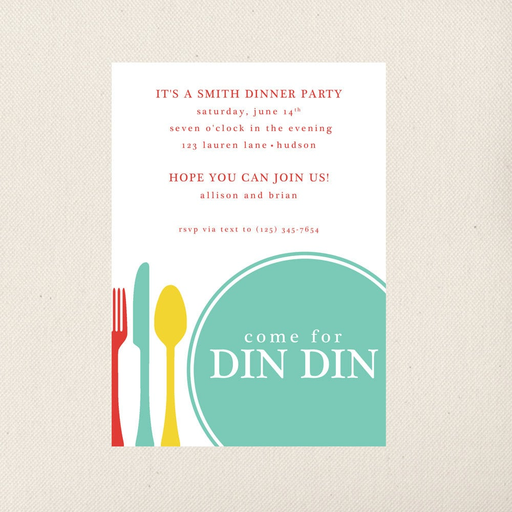 🔎zoom  Free Printable Dinner Party Invitations