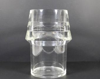 Alfio di Bella Lucite Vase, Vintage Midcentury Lucite Clear Mod Vase, Italian Italy Housewarming Gift