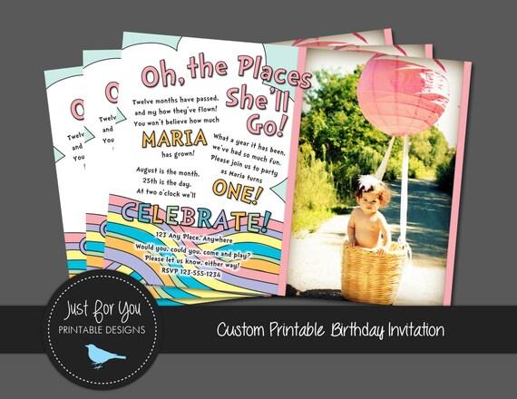 Printable Rainbow Birthday Invitations ~ Birthday just for you printable designs
