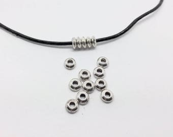 100 spacer beads 5mm silver jewelry designs