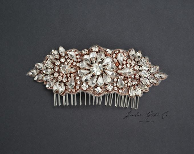 Wedding Hair Comb, Pearl and Rhinestone, Bridal Headpiece, Rhinestone Hairpiece, Bridesmaid, Hair Accessory, 54RG