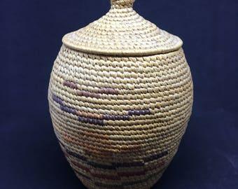 Antique Museum Quality Alaska Native Grass Basket