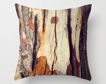 Tree Trunk Pillow - Fall Pillow Case - Autumn Pillow - Nature Pillow Cover - Brown Pillow Case - Rustic Pillow Cover - Tree log pillow case