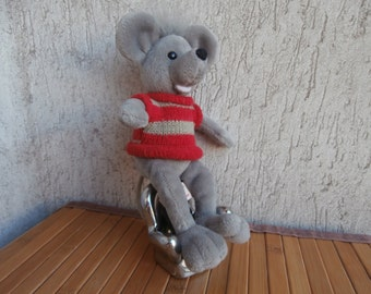 Vintage HERMANN TEDDY ORIGINAL Mouse,Plush toy from Germany