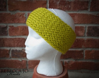 Knit Headband Bright Green
