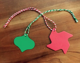 Customizable gift tag - set of 12