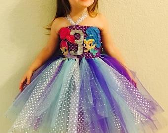 Shimmer and Shine birthday dress