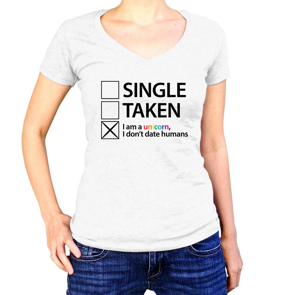 Unicorn shirt im single social anxiety unicorn rainbow for Single custom t shirt
