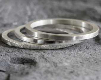 Sterling Silver Stack Ring Set - Stacking Rings - Silver Stack Rings - Stackable rings - Ring Stack - Silver Ring - Thumb Ring - Band Ring