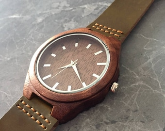 Gift men engraved wood watch, personalized watch for man gift, men's watch, engraved watch, man wood gift