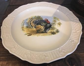 "Gorgoeus 15"" turkey platter by Canonsburg Pottery Co."