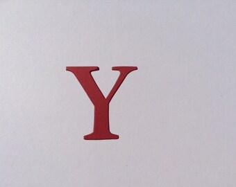2 inch / 5 cm Die Cut Cardboard / Cardstock Serif Letters