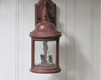 Vintage Outdoor Wall Porch Light Fixture Sconce Lantern Traditional  Colonial Farmhouse Decor
