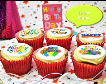 Happy Birthday Lemon 6 Cupcake Gift Box