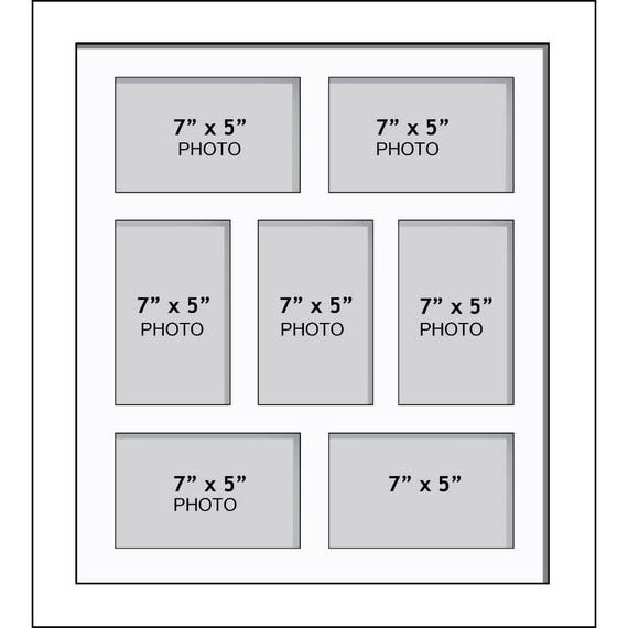 Large Multi Photo Aperture Frames 7 x 5 Inches