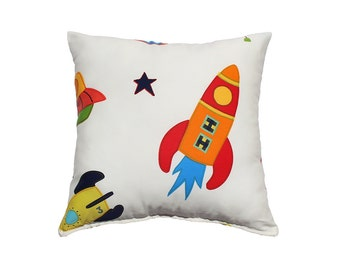 Rockets Pillow Cover-Yellow,Orange,Red.Blue,Green