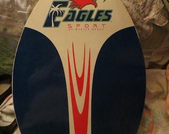 Vintage   Eagles Sport Myrtle Beach  wood   Boogie Board skimboard